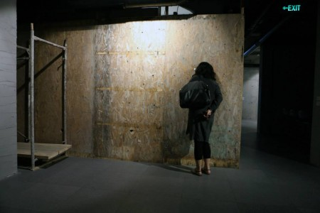 collapsing new buildings installation view